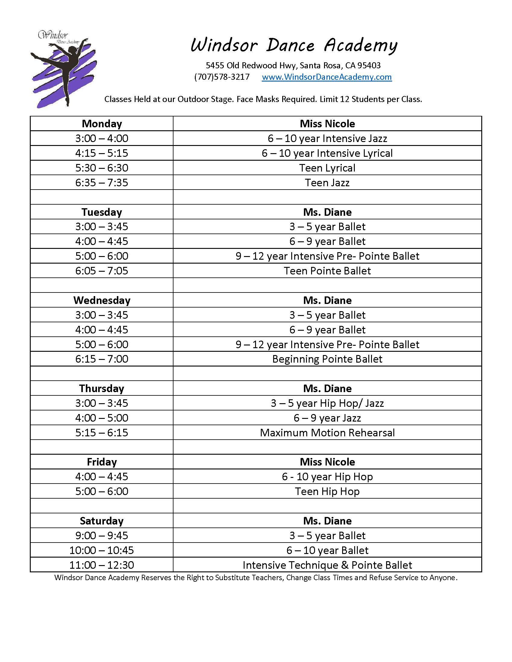 Windsor-Dance-Academy August